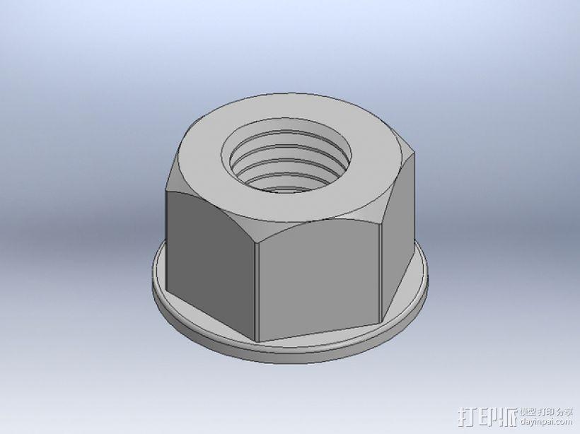 M8 x 40螺丝螺母  3D模型  图5