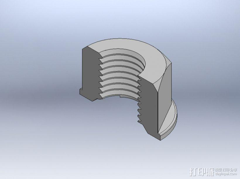M8 x 40螺丝螺母  3D模型  图6