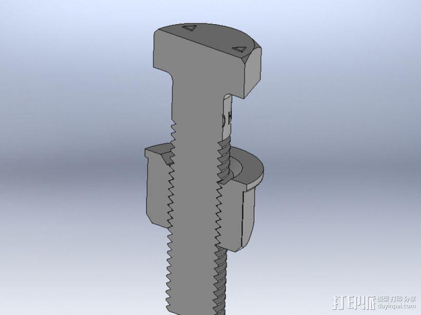 M8 x 40螺丝螺母  3D模型  图7