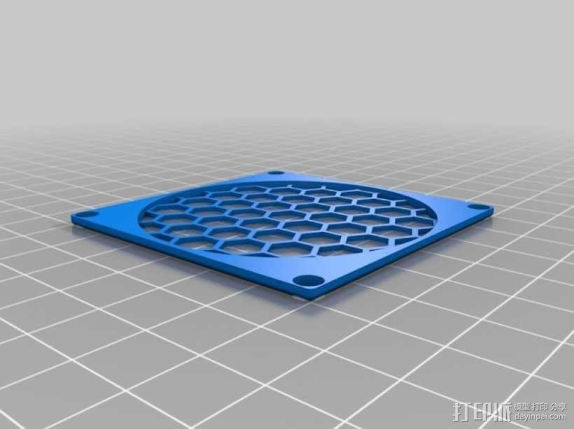 60毫米风扇罩 3D模型  图1