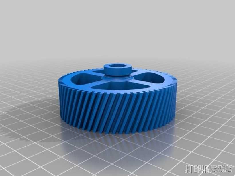 螺旋齿轮  3D模型  图2
