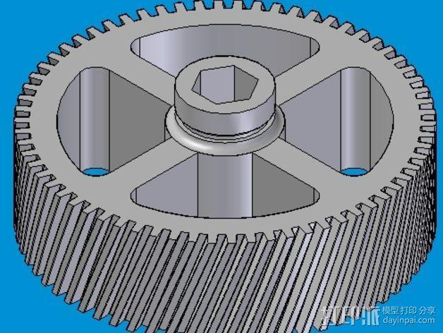 螺旋齿轮  3D模型  图1