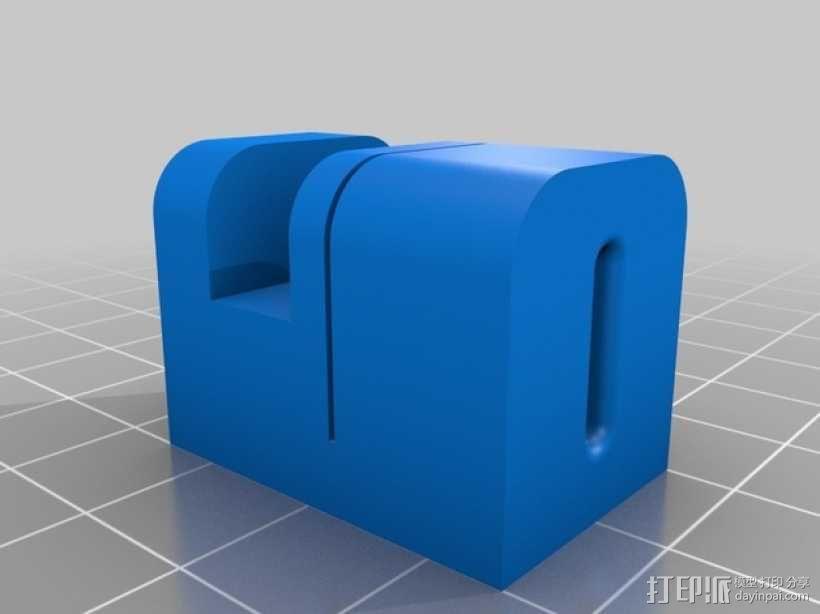 硅胶管切割机 3D模型  图2
