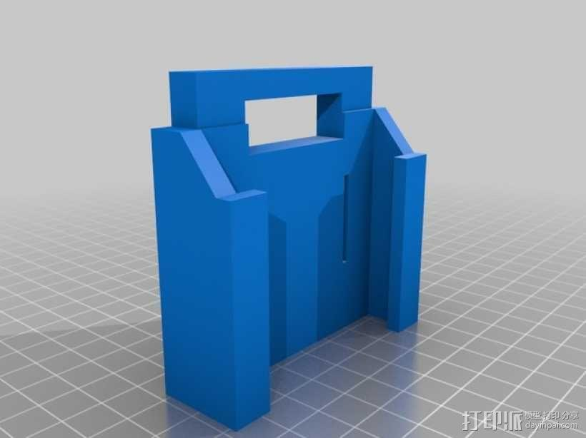 makita电池适配器 3D模型  图3
