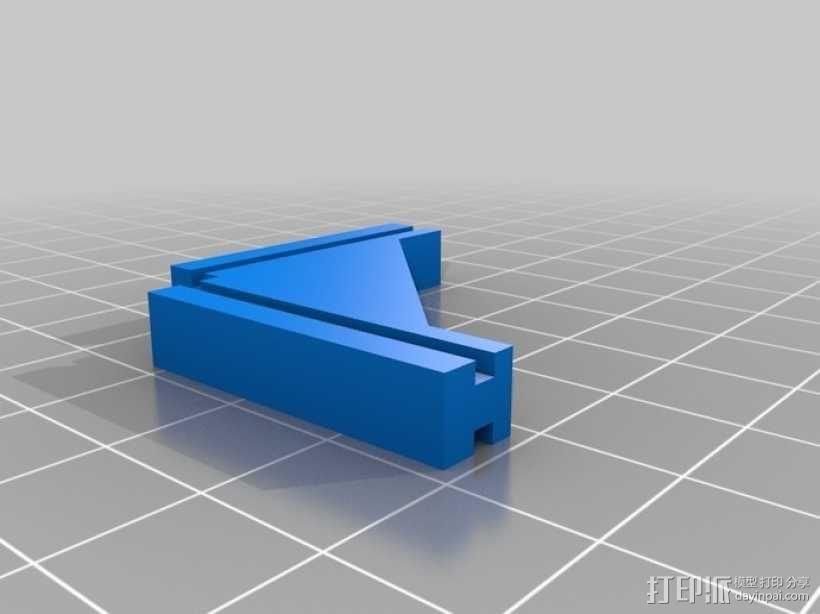 T字形支架 3D模型  图1