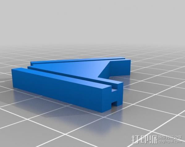 T字形支架 3D模型  图3