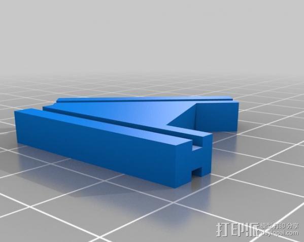 T字形支架 3D模型  图2