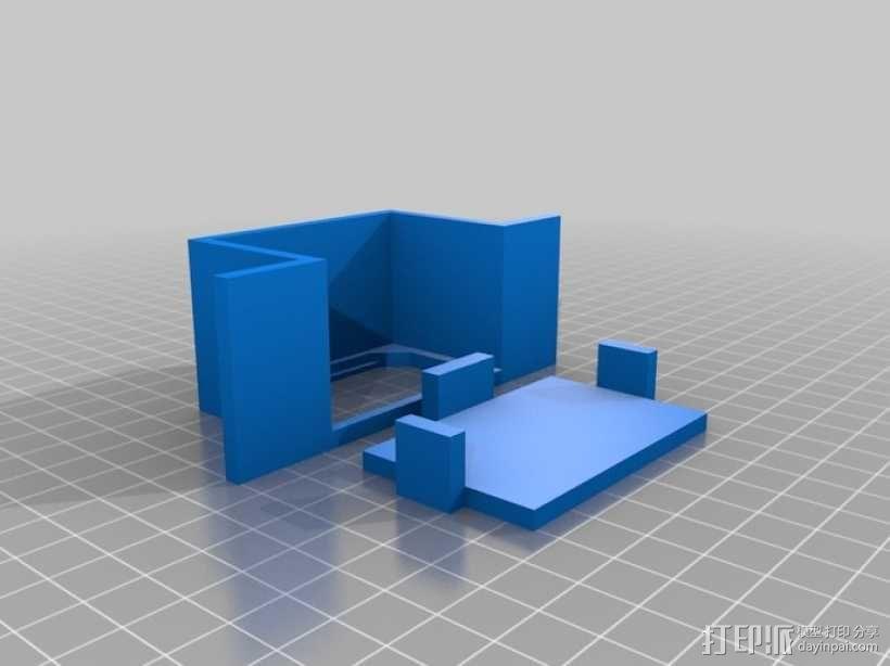 电源连接器保护壳 3D模型  图3