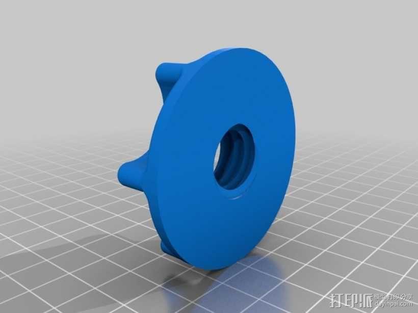 真空袋成型 阀门 3D模型  图2