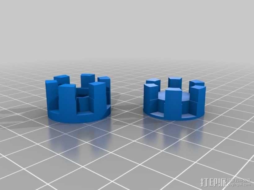 参数化爪形联轴器 3D模型  图1
