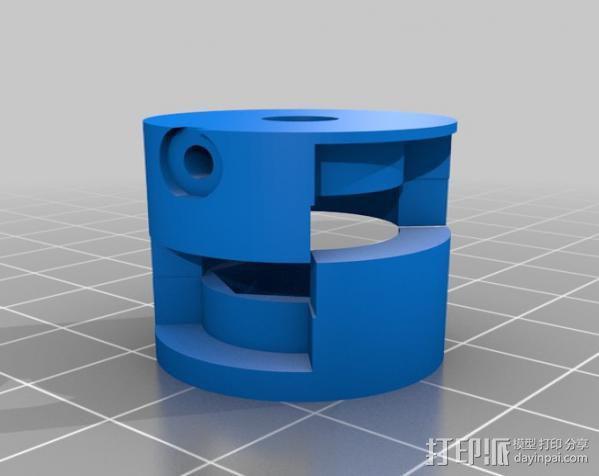 参数化爪形联轴器 3D模型  图2