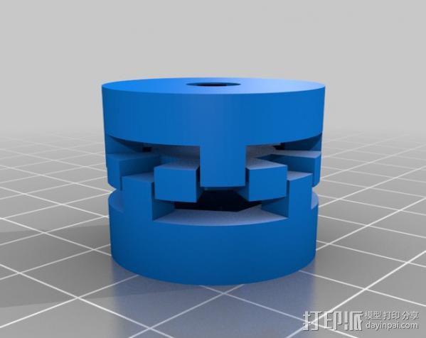 参数化爪形联轴器 3D模型  图3