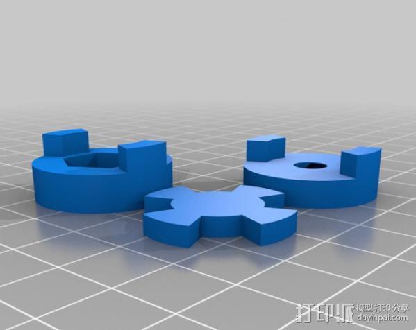 参数化爪形联轴器 3D模型  图4