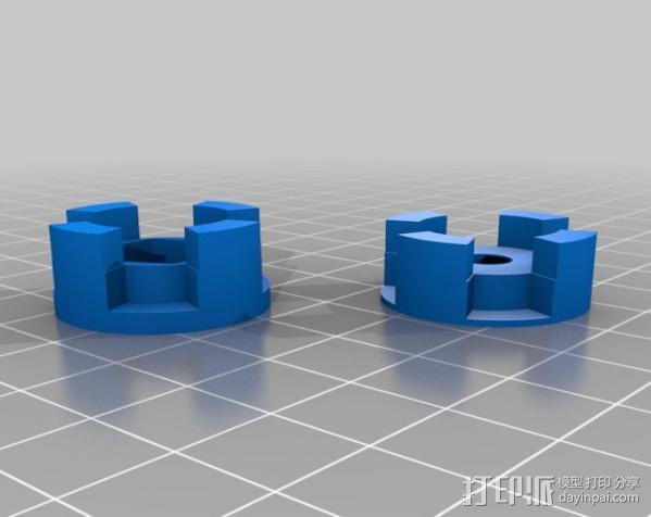 参数化爪形联轴器 3D模型  图5