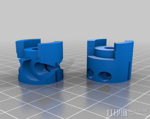 参数化爪形联轴器 3D模型  图7