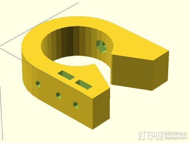 线性导轨 终点挡板 固定夹 3D模型  图4