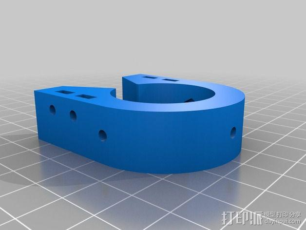 线性导轨 终点挡板 固定夹 3D模型  图2
