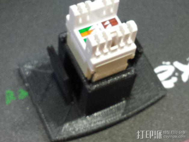 以太网网线接口水晶头 3D模型  图2