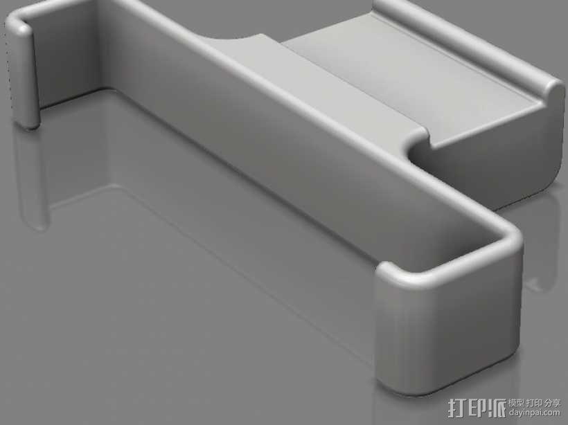 车载 iPhone手机架 3D模型  图1