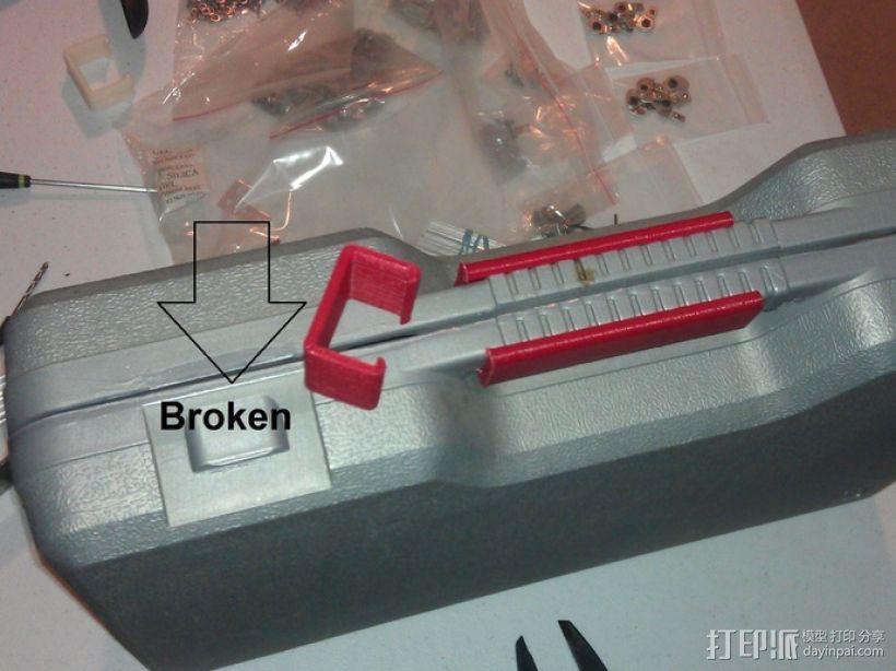 电动工具盒 固定夹 3D模型  图1