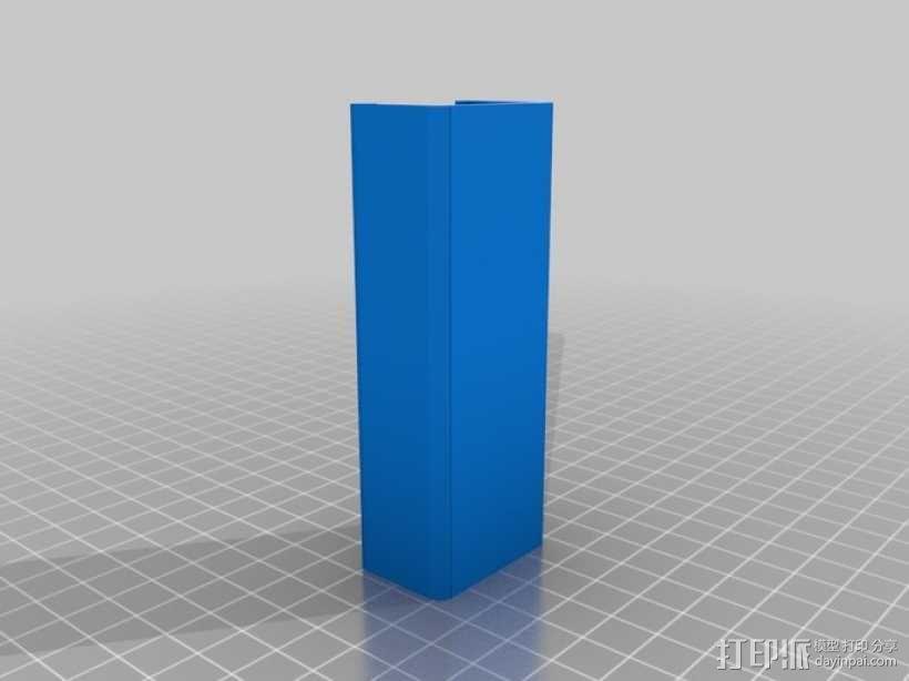 电动工具盒 固定夹 3D模型  图2
