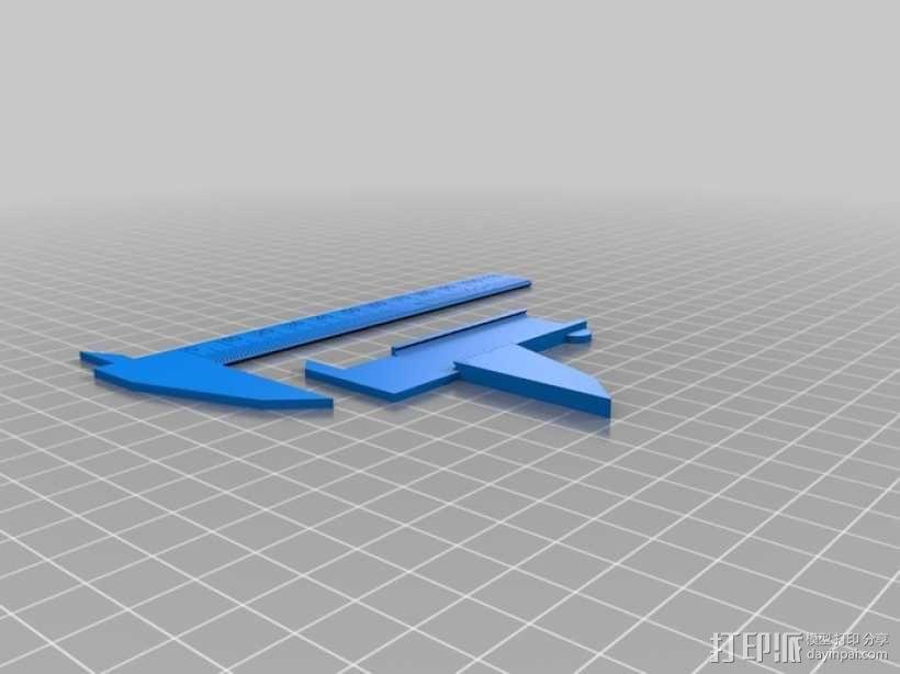 120毫米卡尺  3D模型  图1