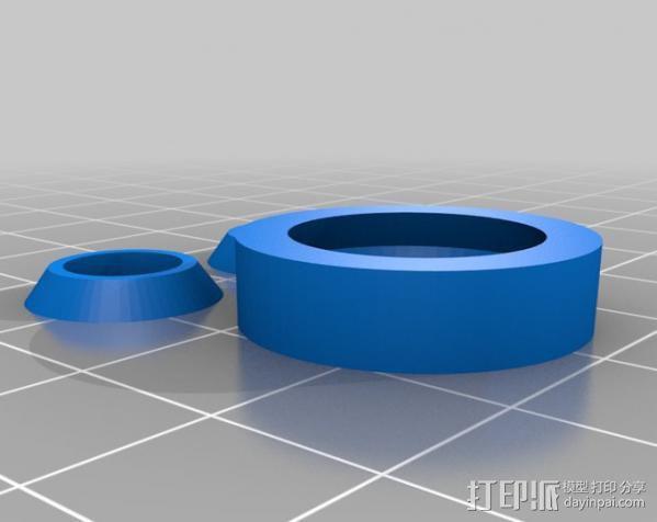 参数化合套轴承  3D模型  图1