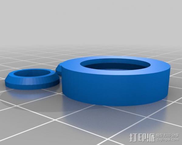 参数化合套轴承  3D模型  图2