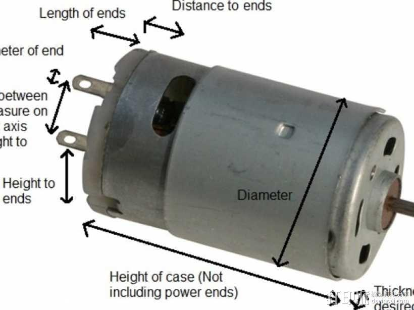 参数化马达外壳 3D模型  图1