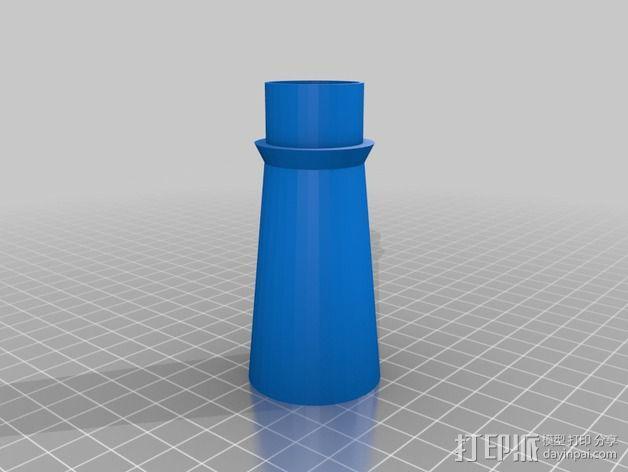 鼓风机 喷嘴 减速装置 3D模型  图2