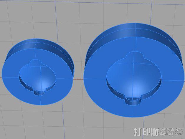 车身螺栓 保护套 3D模型  图4