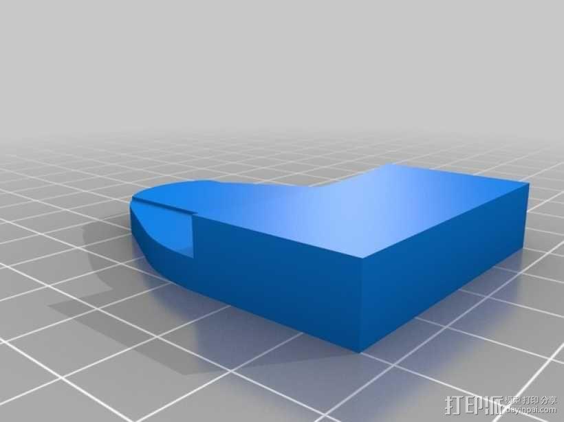Rostock Mini 3D打印机FSR固定夹 3D模型  图2