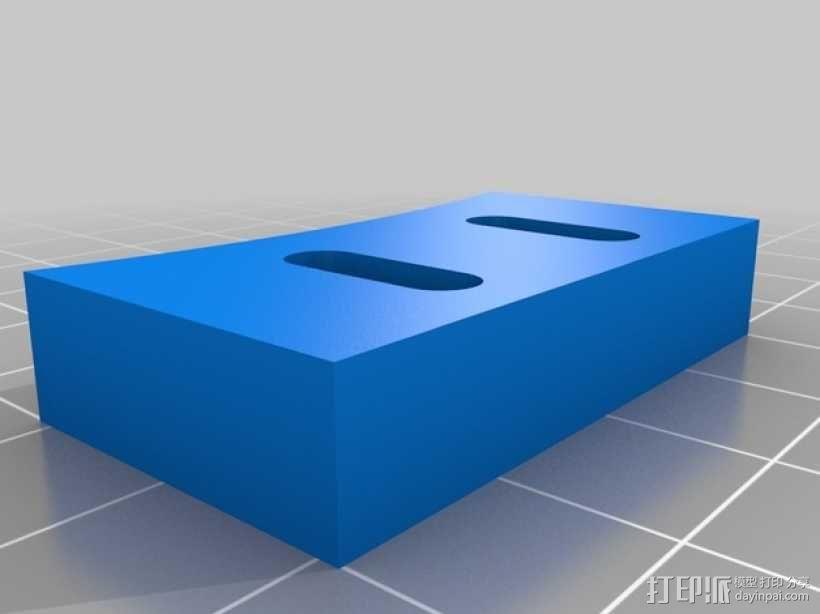 Rostock Mini 3D打印机FSR固定夹 3D模型  图3