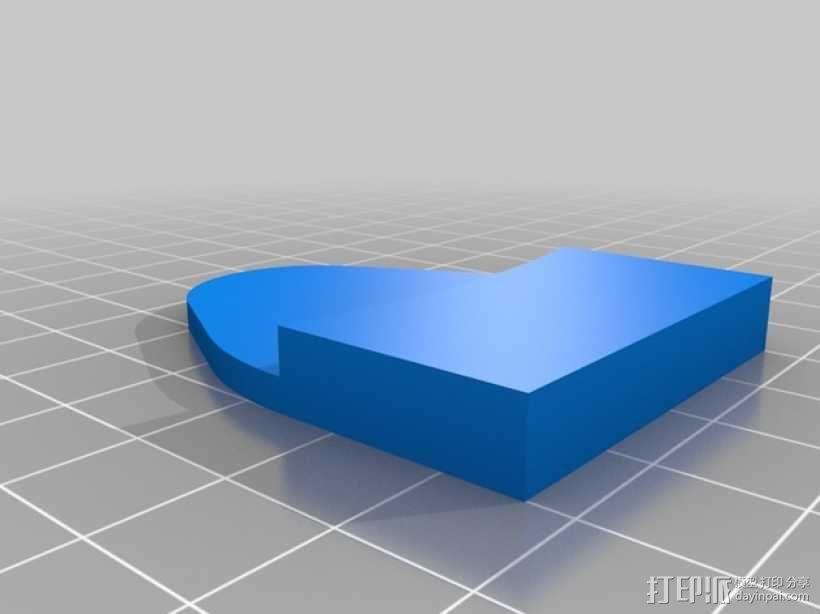 Rostock Mini 3D打印机FSR固定夹 3D模型  图4