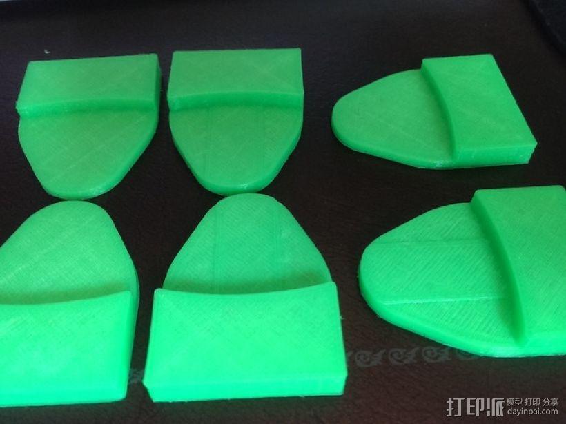 Rostock Mini 3D打印机FSR固定夹 3D模型  图5