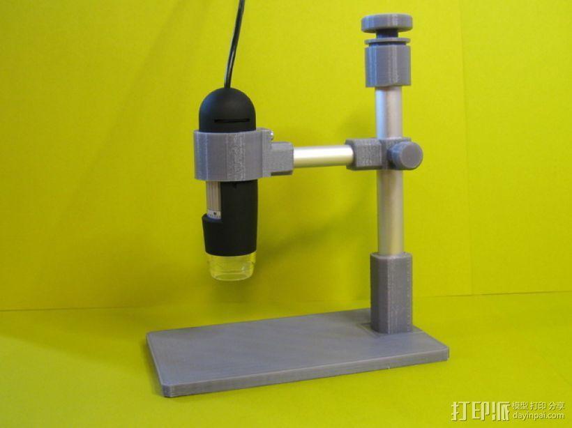 USB显微镜座 3D模型  图1