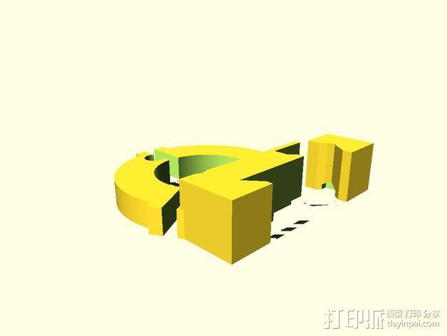 Sherline车床中心架 3D模型  图2