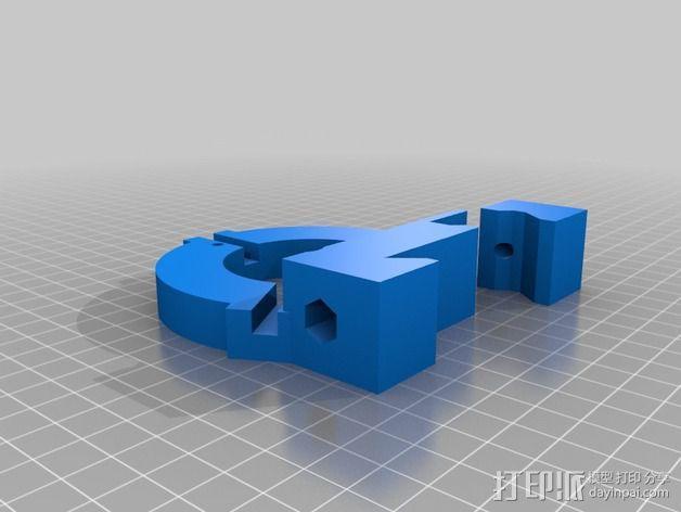 Sherline车床中心架 3D模型  图3