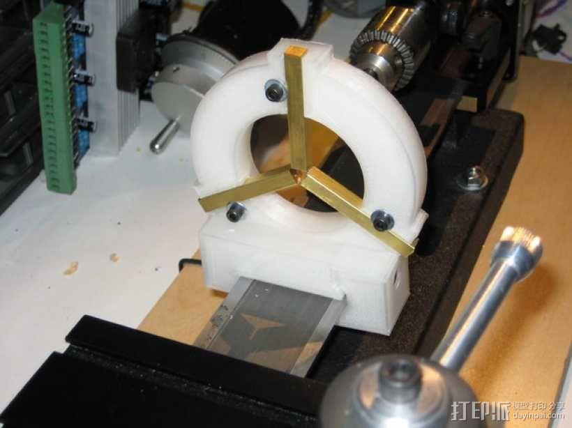 Sherline车床中心架 3D模型  图1