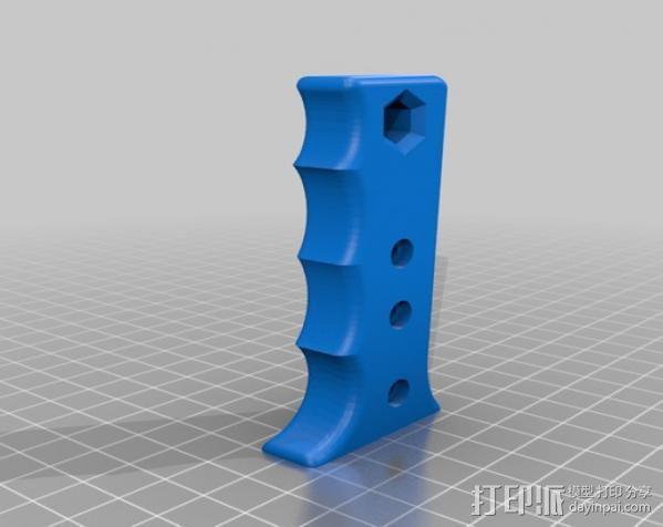 钥孔锯把手 3D模型  图1