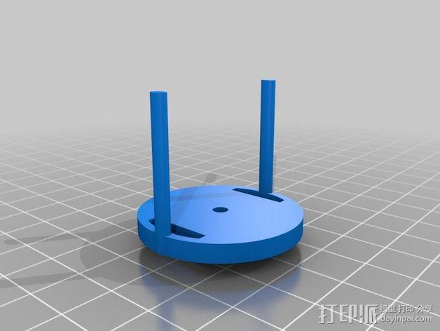 机械设备零部件 差动总成 3D模型  图2