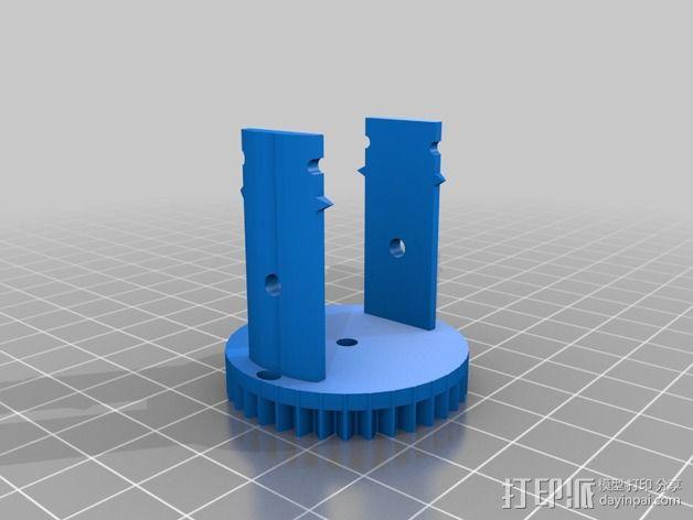 机械设备零部件 差动总成 3D模型  图4