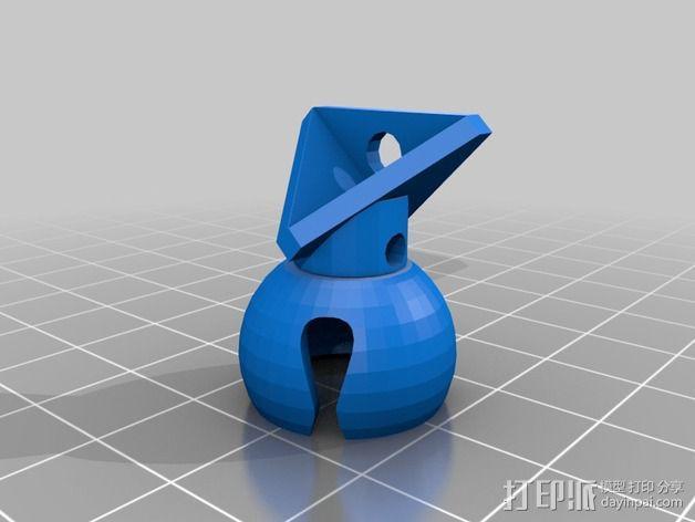 迷你风扇 支架 3D模型  图2