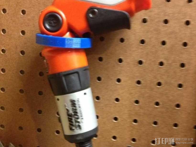 电动螺丝刀 固定架 3D模型  图1