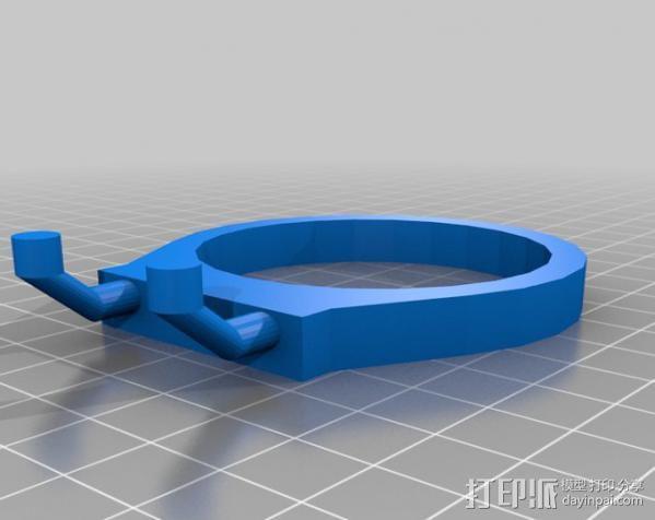 电动螺丝刀 固定架 3D模型  图2