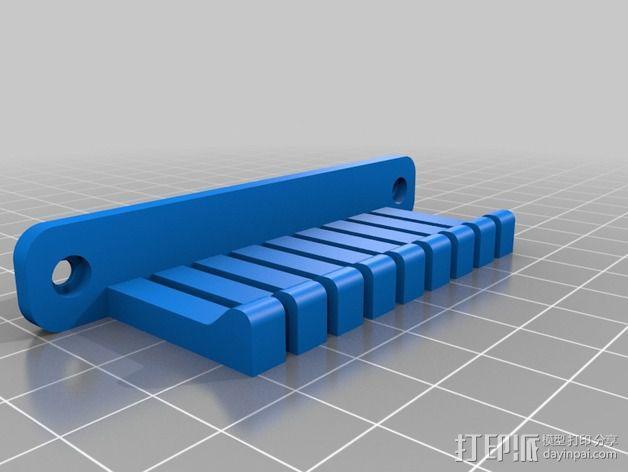 跳线 收纳架 3D模型  图4