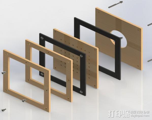 真空成形机 3D模型  图1