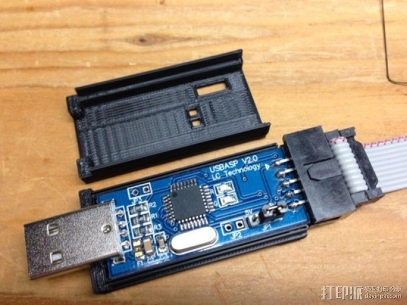 USB ASP 2.0单片机 外壳 3D模型  图3
