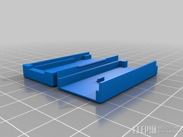 USB ASP 2.0单片机 外壳 3D模型  图1