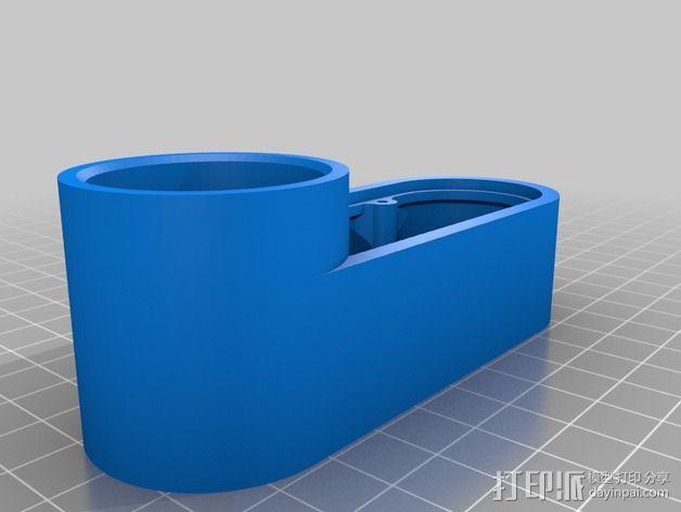 数控雕刻机防尘管 管帽 3D模型  图2